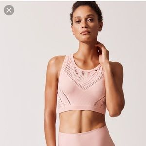 Alo yoga pink sports bra